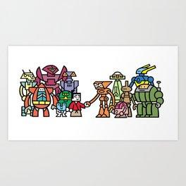 Toru meets the Robots Art Print