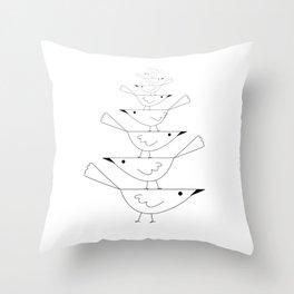 balancing birds Throw Pillow