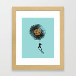 Record Breaker Framed Art Print