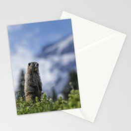 Marmot Checking Out His Neighborhood at Mount Rainier, No. 3 Stationery Cards