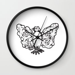 The Wise Butterfly Penguin Wall Clock
