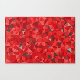 Red and gray triangular pattern - triangles mosaic Canvas Print