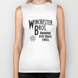 Winchester Bros Hunting Evil Since 1983 Ladies Supernatural T-Shirts Biker Tank
