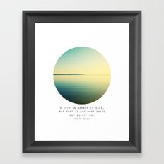 A Ship Framed Art Print