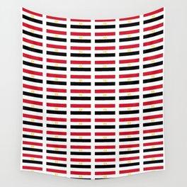 flag of egypt 2 - Egyptian,nile,pyramid,pharaon,cleopatra,moses,cairo,alexandria. Wall Tapestry
