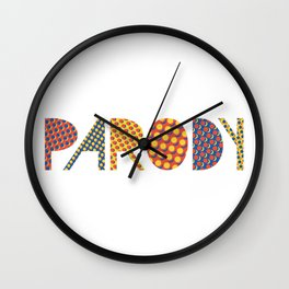 Wanna-Be Roy Lichtenstein Letterform Wall Clock