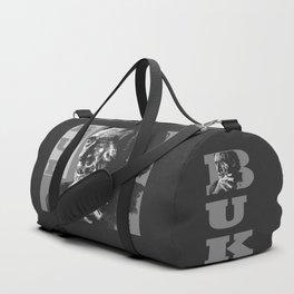 Charles Bukowski -Popart - bw Duffle Bag