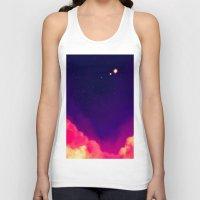 night sky Tank Tops featuring Night Sky by Miki Draw