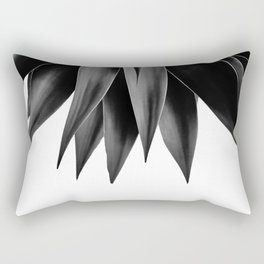 Agave fringe - noir Rectangular Pillow