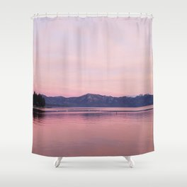 Rose Colored Dream of Lake Tahoe Shower Curtain
