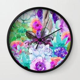 spring pastels Wall Clock