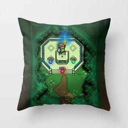 Zelda Link to the Past Master Sword Throw Pillow