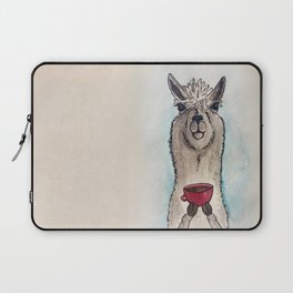 Just a Llama & His Latte Laptop Sleeve