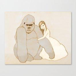 Gorilla and Girl Canvas Print