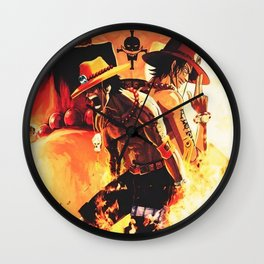 Portgas D Ace One Piece Wall Clock