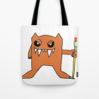 devil Tote Bags featuring Devil by Fawful