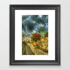 Summer village Framed Art Print