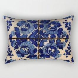 Blue old portuguese tile Rectangular Pillow
