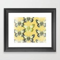 Butterfly - Yellow Framed Art Print