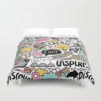 notebook Duvet Covers featuring Everyday by Anna Alekseeva kostolom3000