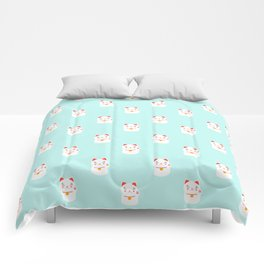 Lucky happy Japanese cat pattern Comforters