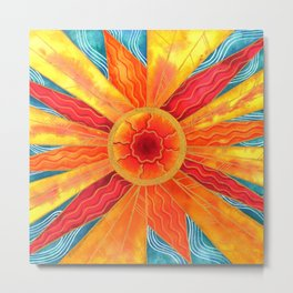Summer Sunburst Metal Print