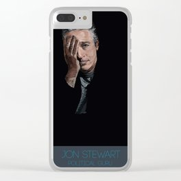 Jon Stewart Clear iPhone Case