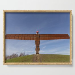 Angel of the North 1 Serving Tray