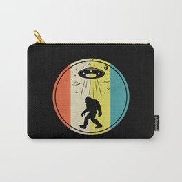 Bigfoot alien saucer retro sunset Carry-All Pouch