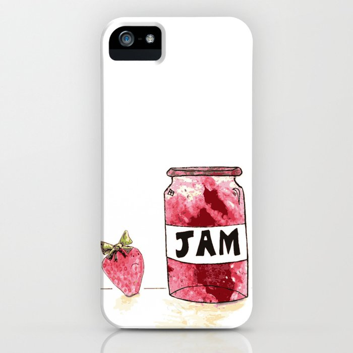 Strawberry VS Jam iPhone Case