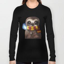 Hairy Potter Sloth Long Sleeve T-shirt