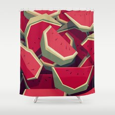Too many watermelons Shower Curtain