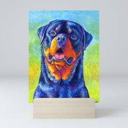 Gentle Guardian Colorful Rottweiler Dog Mini Art Print