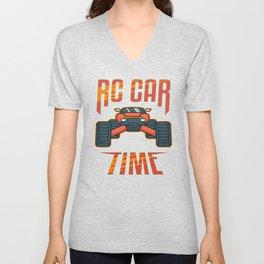 RC Car Lover Radio Controlled Driver Vintage Gift Unisex V-Neck
