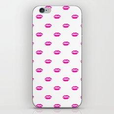 Pink lipstick iPhone & iPod Skin