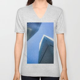 Twin Towers 09/07/2001 Unisex V-Neck