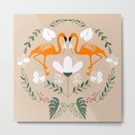 Flamingo's World Metal Print
