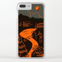 Time for Halloween Spooks Clear iPhone Case