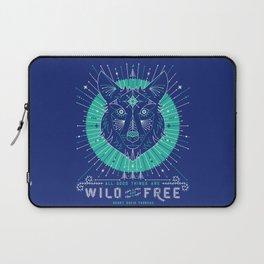 Wild & Free Wolf – Navy Laptop Sleeve