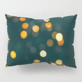 Bokeh Blurred Lights Shimmer Shiny Dots Spots Circles Out Of Focus Pillow Sham