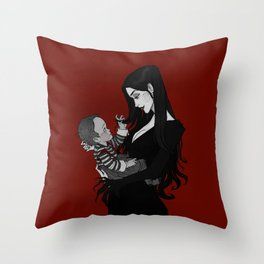A Mother Most Macabre Throw Pillow