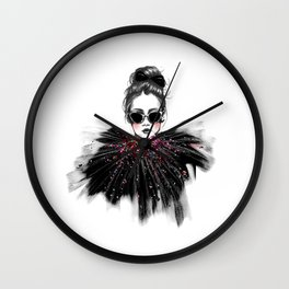 Lua // Fashion Illustration Wall Clock