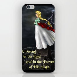 The Stand~Be Strong in the Lord iPhone Skin