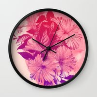 hibiscus Wall Clocks featuring Hibiscus by Magenda