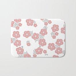 Hello spring Japanese cherry blossom love pink Bath Mat