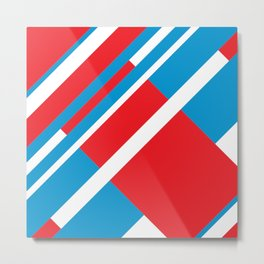 RECT blue&red Metal Print