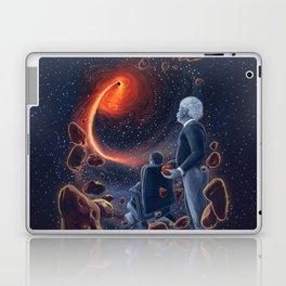 Ghosts in the Sky: Stephen Hawking and Albert Einstein Laptop & iPad Skin