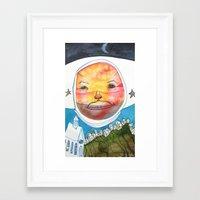 ufo Framed Art Prints featuring UFO by Casey Landerkin