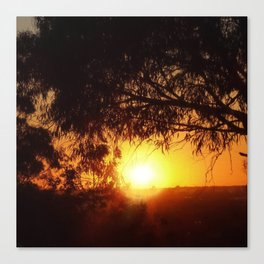 Sunset Silhouettes | Beautiful Nature Canvas Print