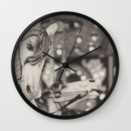 Kid at heart - Black & White Wall Clock